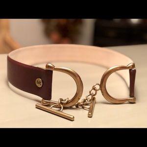 Beautiful & Unique Michael Kors Leather Belt - S/M